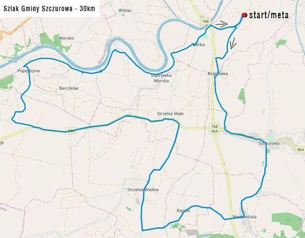 szlakiem Gminy Szczurowa - 30 km