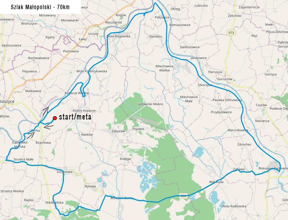 szlakiem Małopolski - 70 km