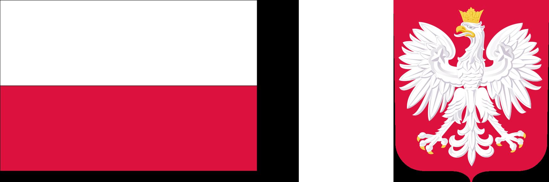 flaga Polski godło