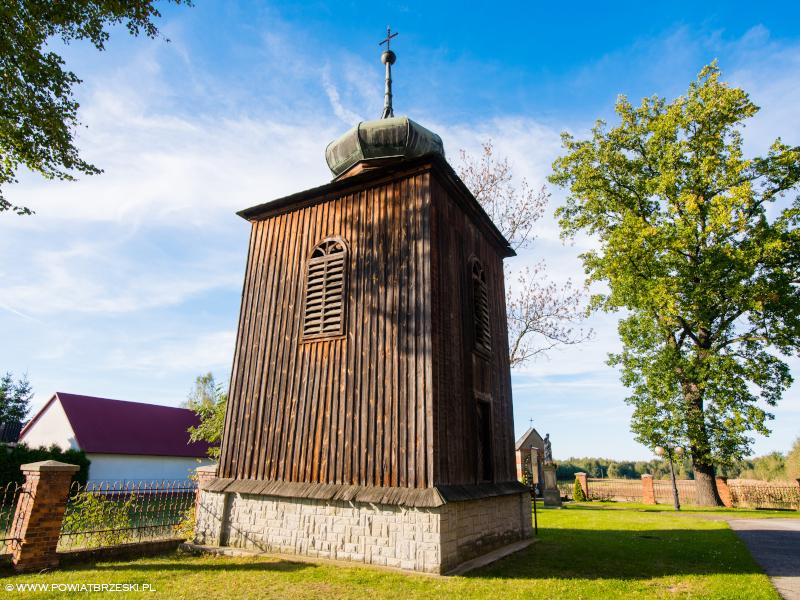 Drewniana dzwonnica przy Kościele pw. Najświętszej Marii Panny z 1830 r.